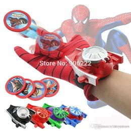 spider man glove NZ - httoy ht Amazing Spider-Man Gloves Wrist Disc Shooter Saucer Launcher Hero Cartoon Toy Model Children Dress Up Cosplay Gifts