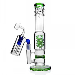 $enCountryForm.capitalKeyWord Australia - Honeycomb Bong Glass Bubbler Thick Glass Water Bongs Smoking Glass Pipes Heady Dab Rigs Oil Rigs With 14mm Ash Catcher 11 inchs