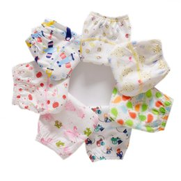 infants diaper panties Australia - Cotton Reusable Baby Training Pants Infant Shorts Underwear Cloth Diaper Nappies Baby Waterproof Potty Training panties
