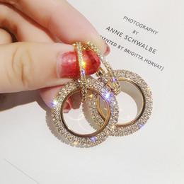 Neue design kreative schmuck hochwertige elegante kristall ohrringe rund Gold und silber ohrringe hochzeit ohrringe für frau im Angebot