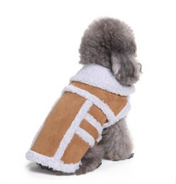 Discount extra small wholesale clothes - Winter Pet Jacket Dog Zipper Coat Hot Sale Dog Cat Warm Clothes 3 Styles 8 Colors Puppy Teddy Apparel