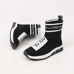koreans fashion sneakers NZ - Hot Sale Pure Girls Princess fashion casual Shoes Kids Sneakers Korean Children socks Shoes 09195