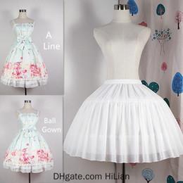 Black short underskirt online shopping - Adjustable A Line Ball Gown Crinoline Underskirt Cosplay Petticoat Short Women White Black Petticoat Wedding Party Accessories
