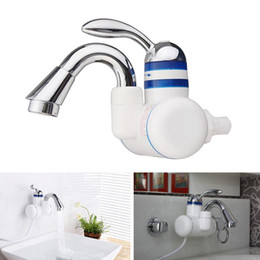 instant hot water taps NZ - Kitchen 360 Degree Instant Heating Hot Cold Dual Use Bathroom Electric Faucet Water Tap Accessary
