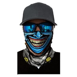 Ghosts Face Mask Australia - 3D Skull Face Mask Scarf Ski Mask Ghost Snowboard Masks Cycling Head Scarf Neck Warmer Halloween Party Face