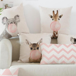 $enCountryForm.capitalKeyWord Australia - Car Backrest Pink Cushion Decoration Giraffe Koala Zebra Balloon Stripe Triangle Tent Perfume Bottle Girl Pillow Nordic Style