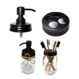 Бесплатная доставка DHL Масло втирается в бронзовый дозатор для мыла с банкой Мейсон с антикоррозионной защитой из нержавеющей стали и крышкой для кухни и ванной - без банок на Распродаже