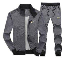 Calças dos homens por atacado Jaqueta Jogging Jogger Define Gola Esportes Treino Suor Ternos Moda Sportswear frete grátis venda por atacado