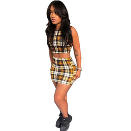 f75d777d451 Sexy Women Short Plaid Skirt UK - Women Tracksuits Casual Active Fashion  Spring   Summer Sexy