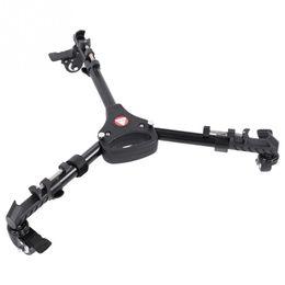 Camera Dolly Wheels Australia - Kingjoy VX-600 Foldable Tripod Dolly 3 Wheels Stand Pulley Base Universal Camera High Quality