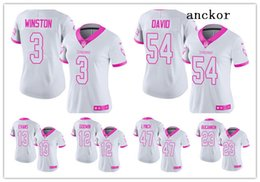 eb3005949 Tampa Bay MEN WOMEN YOUTH 13 Mike Evans 3 Jameis Winston Limited Jersey  Football Buccaneers White Pink Rush Fashion