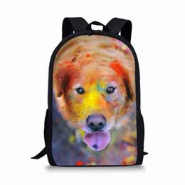 $enCountryForm.capitalKeyWord Australia - School Bag For Boy Orthopedic Cute Dog Oil Painting Backpack Female Baby Backpack Kids Toddler School Bags for Girl Children Bag
