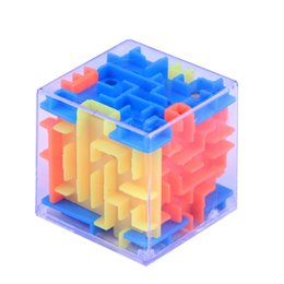 kids coin savings banks NZ - 1PC Novelty 3D Money Maze Bank Cube Puzzle Saving Coin Collection Case Box Brain Game Kids Toy Gift