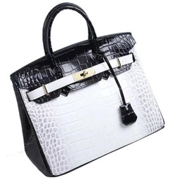 italy women bags 2019 - crocodile handbag bags shoulder tote emboss ostrich wholesale women tote purse BR Italy UK France genuine leather bag Pa