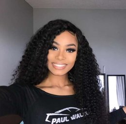 hair bleach for weave 2019 - Deep Wave Lace Front Human Hair Wigs For Black Women With Baby Hair Bleached Knots Brazilian Deep Weave Lace Frontal Wig
