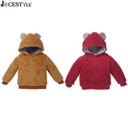 $enCountryForm.capitalKeyWord Australia - Baby Girls Winter Sweatshirt Warm Thick Faux Fur Fleece Coat Children Long Sleeve Hooded Solid Outerwear Kids Boy Clothes
