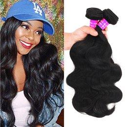 Discount brazilian loose body wave - 9A Brazilian Body Deep Loose Curly Wave Unprocessed Human Hair Extension Malaysian Peruvian Indian Virgin Hair Weave 3Bu