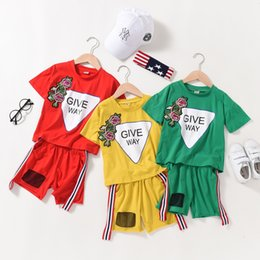 $enCountryForm.capitalKeyWord NZ - Girls suit summer fashion sports Korean version of the big children's basketball embroidery short-sleeved shorts cotton tide children's