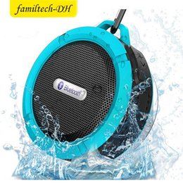 $enCountryForm.capitalKeyWord Australia - Waterproof Bluetooth Speaker Shower Speaker C6 with Strong Driver Long Battery Life and Mic and Removable Suction Cup Retail Packaging