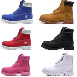 a3df824028e660 Timberland Stivaletti originali firmati per donna Uomo Sport Rosso Bianco  Inverno Sneakers TBL Scarpa casual Donna Stivale invernale di lusso taglia  36-47