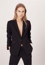 5734d69b04e Красивый черный женский пиджак пиджак женская мода с длинным рукавом костюм  воротник портной костюмы женские дамы