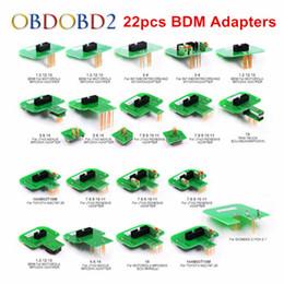 Beste Qualität 22 stücke BDM Adapter KTAG KESS KTM Dimsport BDM Sondenadapter Full Set LED BDM Rahmen ECU RAMP Adapter DHL Freies im Angebot