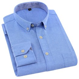 Men S Shirts Fabric Australia - NIGRITY S-4XL Plus size New Oxford Fabric excellent comfortable slim fit button collar business men casual shirts tops
