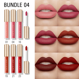 lip moisture Australia - SACE LADY 12 Colors Lips Makeup Mini Matte liquid Lipstick Set Waterproof Long Lasting Moisture Cosmetic Lip Gloss Red Lip stick