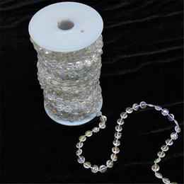 DiamonD party stranDs online shopping - 30meters ft Roll Diy Iridescent Garland Diamond Acrylic Crystal Beads Strand Shimmery Wedding Tree Christmas Decoration Home Window