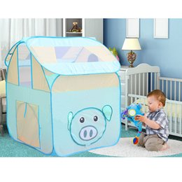 $enCountryForm.capitalKeyWord NZ - Cartoon Pig Cubby Style Play Tent, Pop Up Play House Tent Castle Toy Nursery Hut Ocean Ball Pit Pool Kids Indoor & Outdoor Game