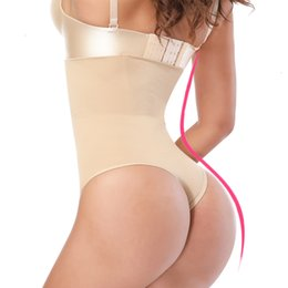wedding thongs 2020 - Body Shapers Women Lifter Slimming Tummy Control Panties Wedding Dress G String Shaper High Waist Trainer Sexy Thong Kni