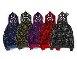 Wholesale plus printed hoodies online – oversize Autumn Winter Lover Camo Plus Velvet Sweater Hoodies Men Women Casual Full Zipper Cardigan Hoodies Sizes M XL