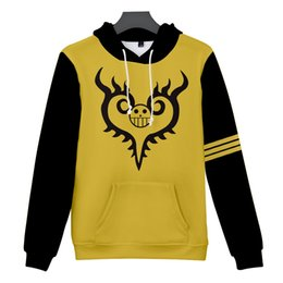 One piece trafalgar law hOOdie online shopping - 2019 new Anime One Piece Hoodies Print Sweatshirts Fashion Youthful Mens Trafalgar Law Cosplay Pirates Of Heart Tops Outerwear Coat Outfit