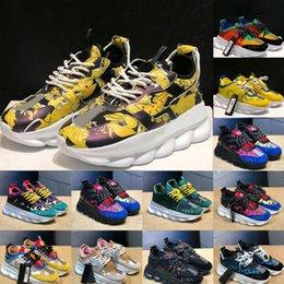 Ingrosso 2020 Adatti a nuovo arrivo scarpe Versace Donne Uomo Scarpe scarpe sportive Trainer leggero Link-Rilievo esterno suola con
