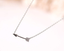 Necklaces Pendants Australia - 10 Ingenious Lovers small Arrow charm Necklace Love Letters Pendants Necklace Alloy Arrow Through Heart Short Chain Necklace Jewelry Gift