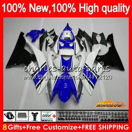 11 yamaha r6 fairings white Canada - Body For YAMAHA YZF-600 blue on sale YZF600 YZFR6 08 09 10 11 12 68HC122 YZF 600 R 6 CC 600CC YZF-R6 YZF R6 2008 2009 2010 2011 2012 Fairing