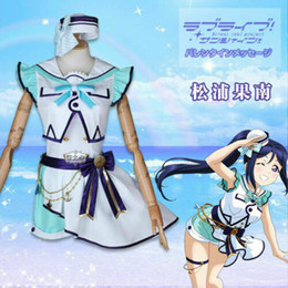 Wholesale love live cosplay resale online - 2019 Love live sunshine aqours cosplay costume Kanan th anniversary party dress