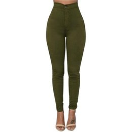 Thin Leggings Wholesale UK - Women Candy-colored Thin Section Ankle-length Leggings Elasticity Skinny Jeans Pencil Pants