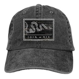 03f188542019 US Join Or Die Snake Colonial Revolutionary War Military Flag Mens Cotton  Adjustable Washed Twill Baseball Cap Hat