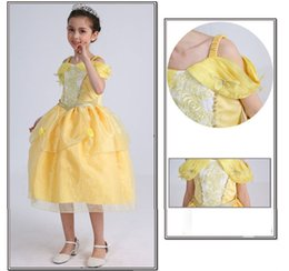 $enCountryForm.capitalKeyWord NZ - girl kid princess belle dress Beauty and the Beast Halloween Costumes child Girl birthday gift Costume Dress Cosplay