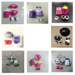 $enCountryForm.capitalKeyWord Australia - VS 1Set DIY Original Doll Accessories Clothes Dress Bottles Shoes Glasses Headwear Baby Doll Collection Toy Girls Kids Gift
