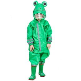 $enCountryForm.capitalKeyWord Australia - 3-9 Years Old Children Cartoon Frog Rainwear Waterproof Hooded RainCoat Outwear Camp Poncho Kids Rain Jumpsuit