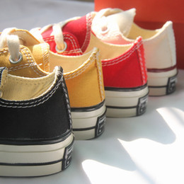 $enCountryForm.capitalKeyWord Australia - Kids Shoes Baby Black Yellow Red Classic Canvas Shoes Toddler Boys Designer Shoes Children Boy Brand Sport Girls 2019 New Hot Sell Round
