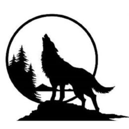 $enCountryForm.capitalKeyWord Australia - 15*13cm Handsome And Cool Stickers WOLF HOWLING AT THE MOON TREES scenery Vinyl Decal Sticker Car Truck Decor Car Sticker