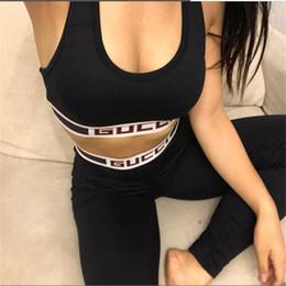 $enCountryForm.capitalKeyWord Australia - High Elasticity Brand Girls Yoga Sets Summer Design Letter Luxury Women Gym Suits Personality Backless Lady Sports Clothing