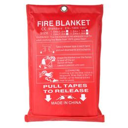 Venta al por mayor de 1 x 1 m Sellado Fuego Manta seguridad en el hogar Fighting Extintores abrigo de la tienda Barco supervivencia de la emergencia de incendio Seguridad de cubierta