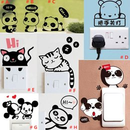 $enCountryForm.capitalKeyWord Australia - Removable wall sticker switch sticker multifunctional panda creative living room bedroom waterproof cute Wall Sticker Mix 5 pcs Free ship