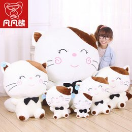 quality plush toys Australia - Hot 45CM Lovely Big Face Cat Stuffed Plush Toys Soft Animal Dolls Factory Lowest Price Best Gifts for Kids High Quality