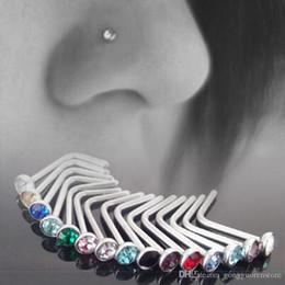$enCountryForm.capitalKeyWord NZ - 100PCS Punk Style Piercing Nose Lip Jewelry Body Jewelry For Man Women Studs 1.8mm Stainless Steel Body Piercing Jewelry