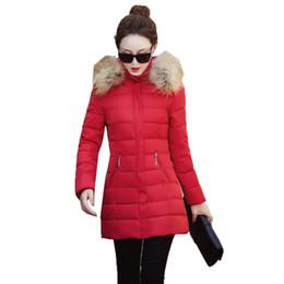 89519bbf491 OLN 2019 Fashion Autumn Winter Jacket Women Fur Collar Women Coat Thick  Hoody Slim Outwear Parka Warm Ladies Korean Cloths